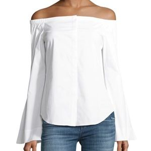 Theory off the shoulder shirt